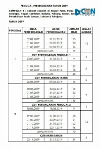 Takwim Persekolahan Dan Tarikh Peperiksaan Penting Upsr Pt3 Spm 2019 Cmn Academy Online Learning Platform